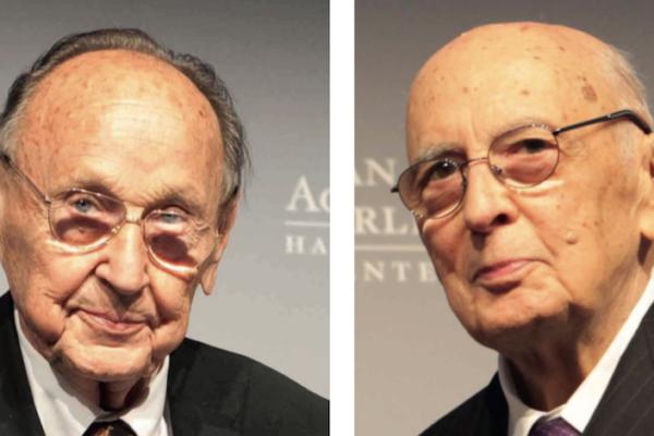 Hans-Dietrich Genscher & Giorgio Napolitano (2015)