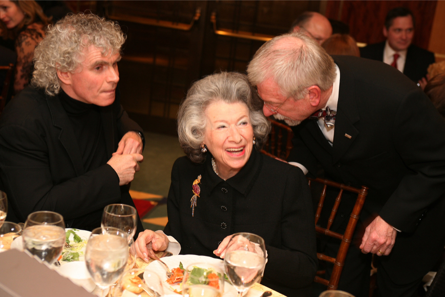 Simon Rattle, Anna-Maria Kellen, And William F. Baker At The Carnegie Hall Gala, 2006 (Photo: Michael Dames)