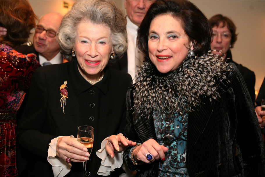 Anna-Maria Kellen and Marina Kellen French at the Carnegie Hall gala, 2006 (Photo: Michael Dames)