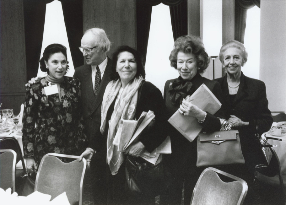 Marina Kellen French, Stephen Kellen, Anna-Maria Kellen, And Guests At The New Traditions Conference, 1998 (Photo: Annette Hornischer)