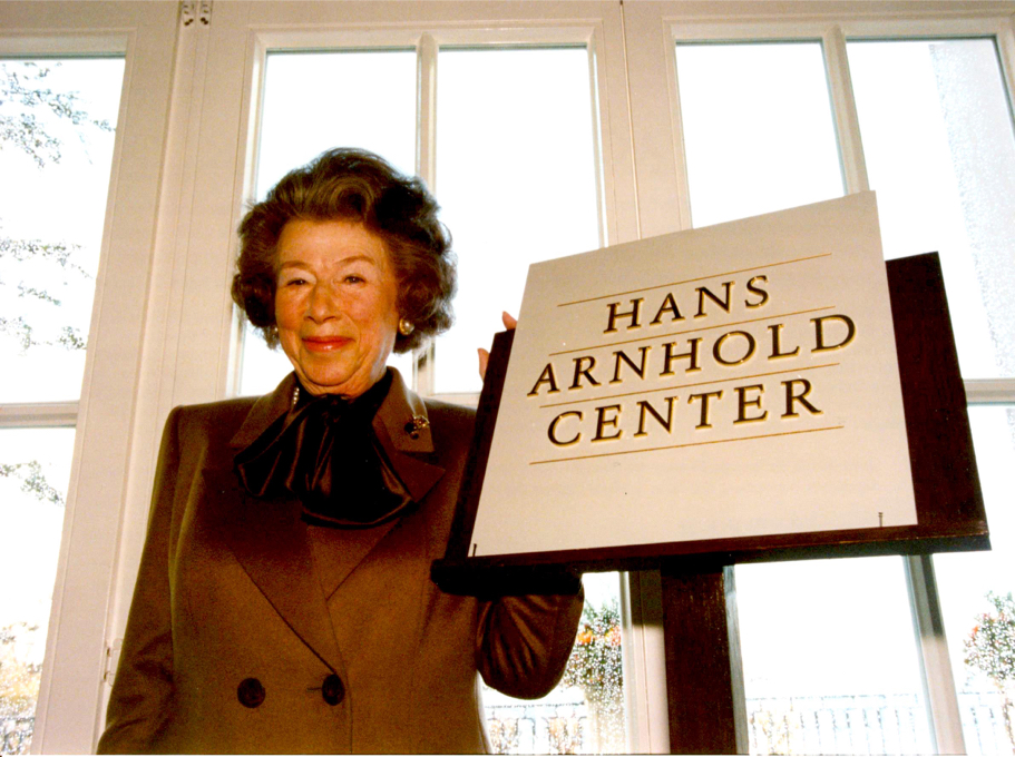 Anna-Maria Kellen at the official opening of the American Academy in Berlin's Hans Arnhold Center, November 1998