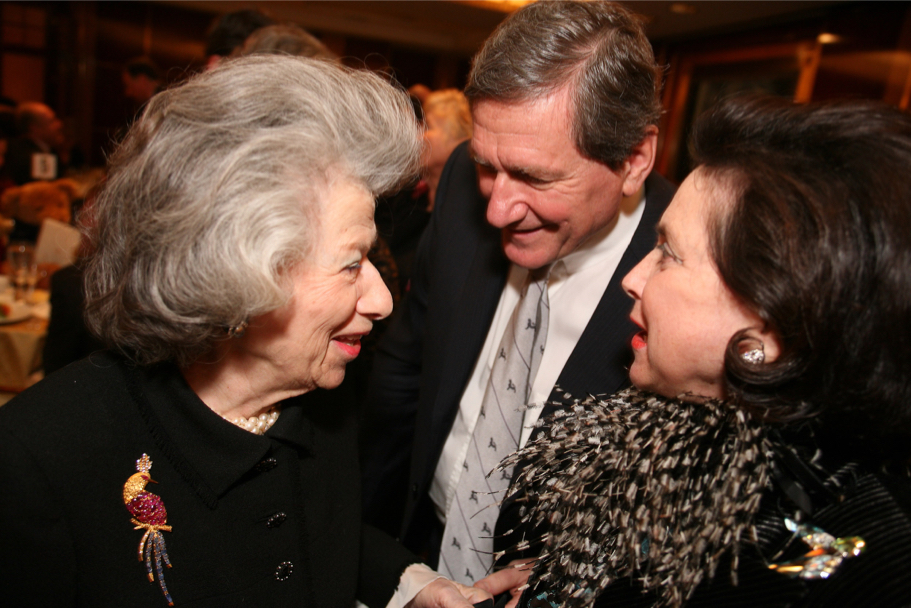 Anna-Maria Kellen, Richard C. Holbrooke, And Marina Kellen French At The Carnegie Hall Gala, 2006 (Photo: Michael Dames)