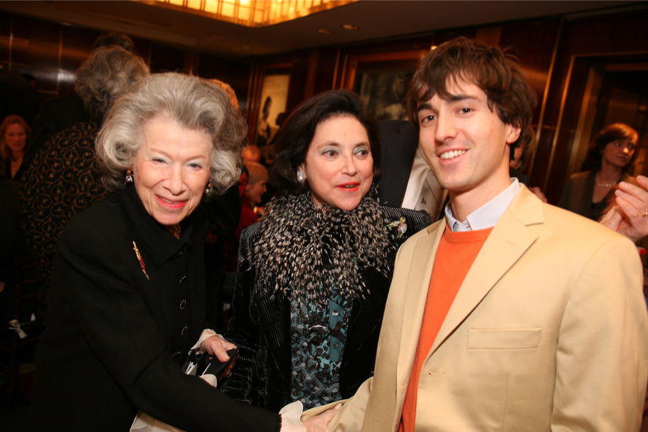 Anna-Maria Kellen, Marina Kellen French, And Composer And Academy Fellow Mason Bates, At The Carnegie Hall Gala, 2006 (Photo: Michael Dames)