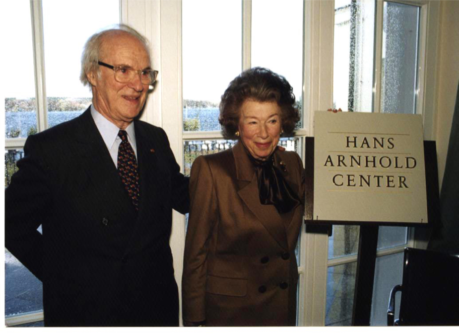 Stephen And Anna-Maria At The Hans Arnhold Center Naming Ceremony, November 1998