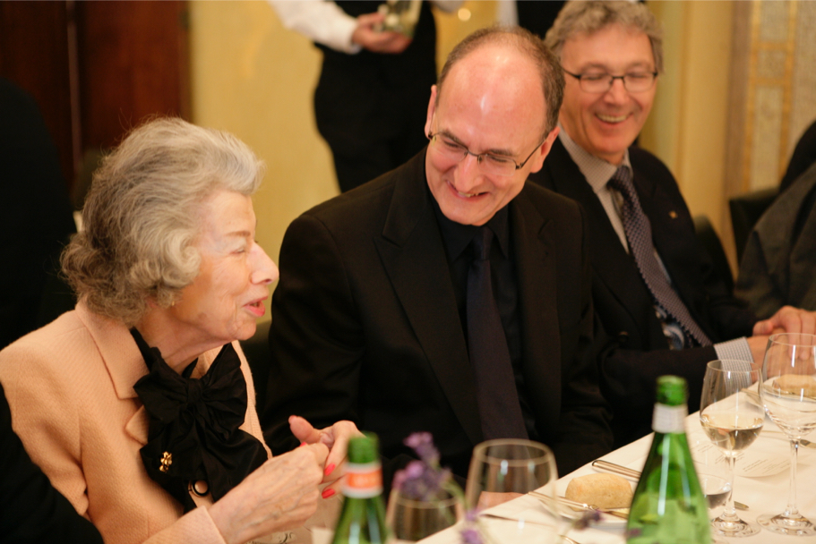 Anna-Maria Kellen and Peter Gelb of the Metropolitan Opera at the American Academy in Berlin, 2009 (Photo: Annette Hornischer)
