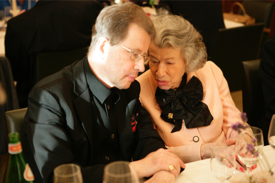 German opera director Nikolaus Lehnhoff and Anna-Maria Kellen at a dinner for Peter Gelb, of the Metropolitan Opera, 2009 (Photo: Annette Hornischer)