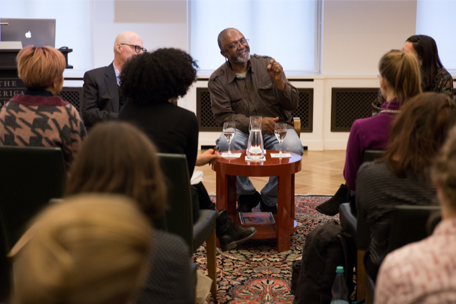 Kerry James Marshall's master class at the Academy, April 21, 2017. (Photo: Annette Hornischer)