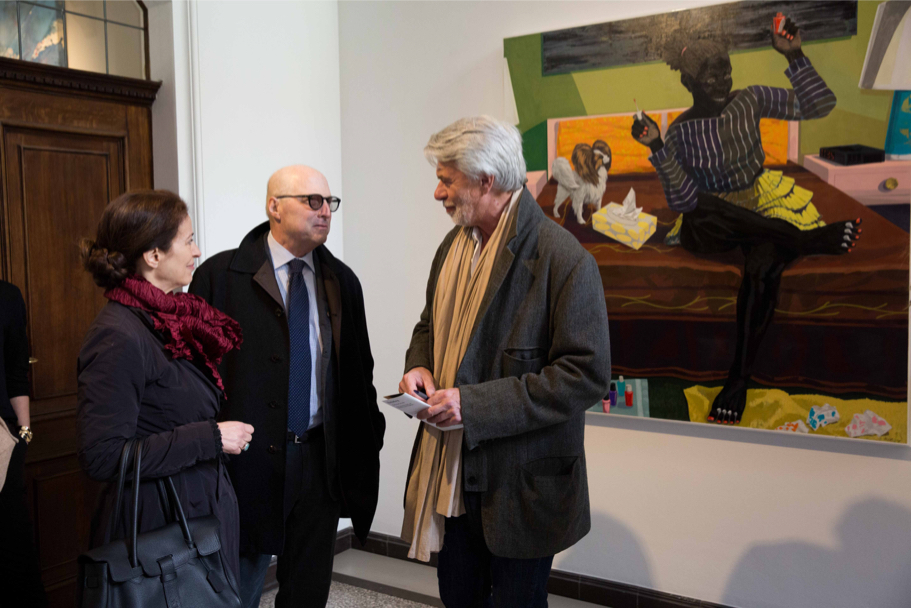 Katharina Galor And Academy President Michael Steinberg Meet With Chris Dercon, Former Director Of The Tate Modern, At Villa Grisebach, April 29, 2017. (Photo: Annette Hornischer)