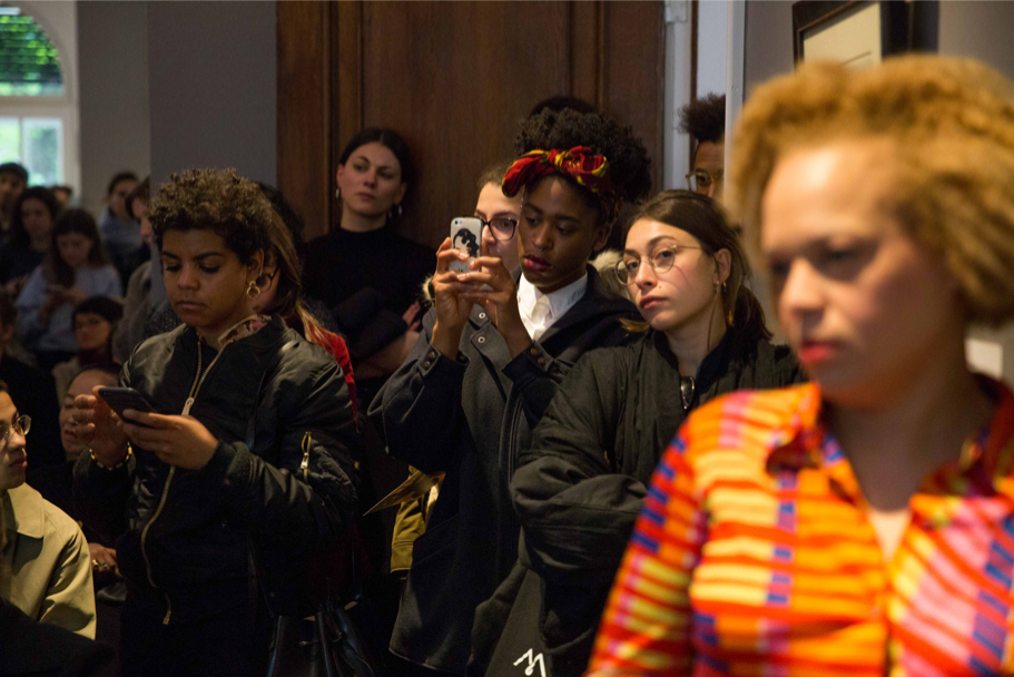 Photo Of The Audience At The Kerry James Marshall And Chris Dercon Discussion At Grisebach, April 29, 2017. (Photo: Annette Hornischer)