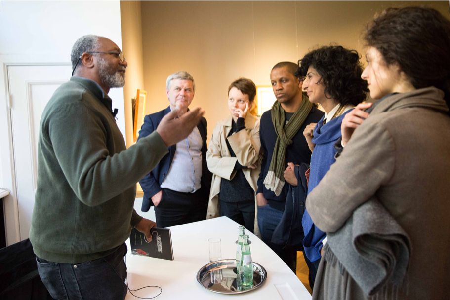 Kerry James Marshall Speaks With The Audience At Grisebach, April 29, 2017. (Photo: Annette Hornischer)