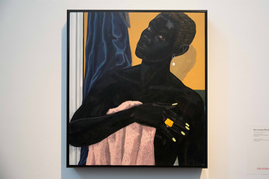 Painting exhibited at Grisebach: Kerry James Marshall, Untitled (Pink Towel), 2014 Private Collection. Courtesy the Artist and David Zwirner, London (Photo: Annette Hornischer)