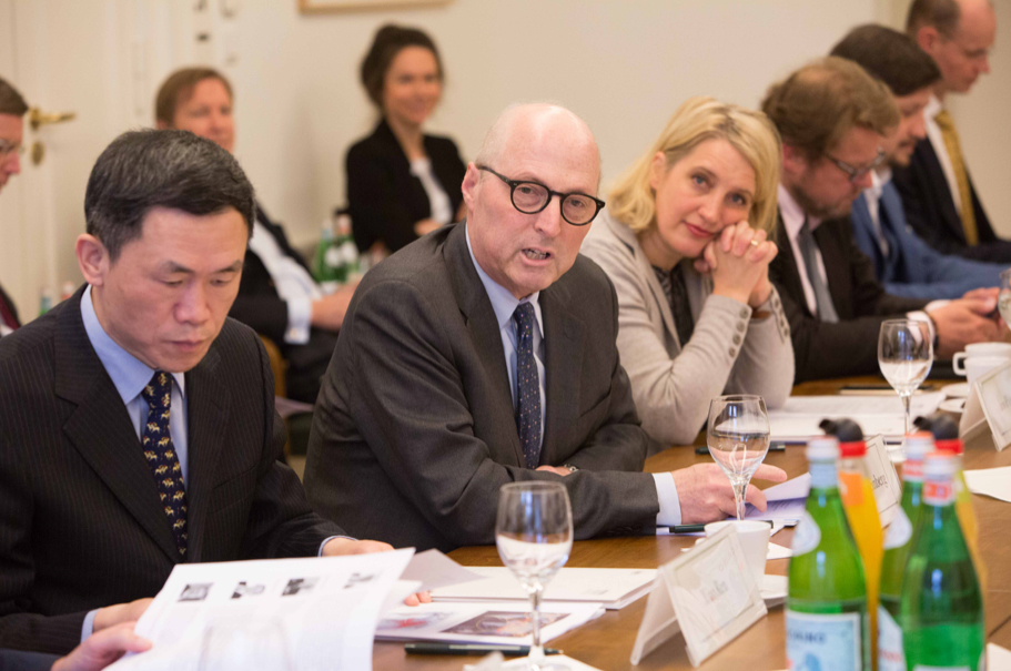 Xiao Ren, Of Fudan University; American Academy President Michael Steinberg; Iris Plöger, Of The Federation Of German Industries (BDI). (Photo: Annette Hornischer)