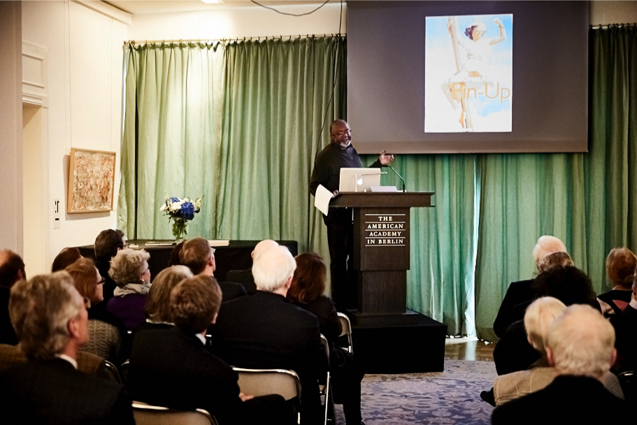 Kerry James Marshall Delivers The Inaugural Max Beckmann Lecture, April 26, 2017. (Photo: Ralph K. Penno)