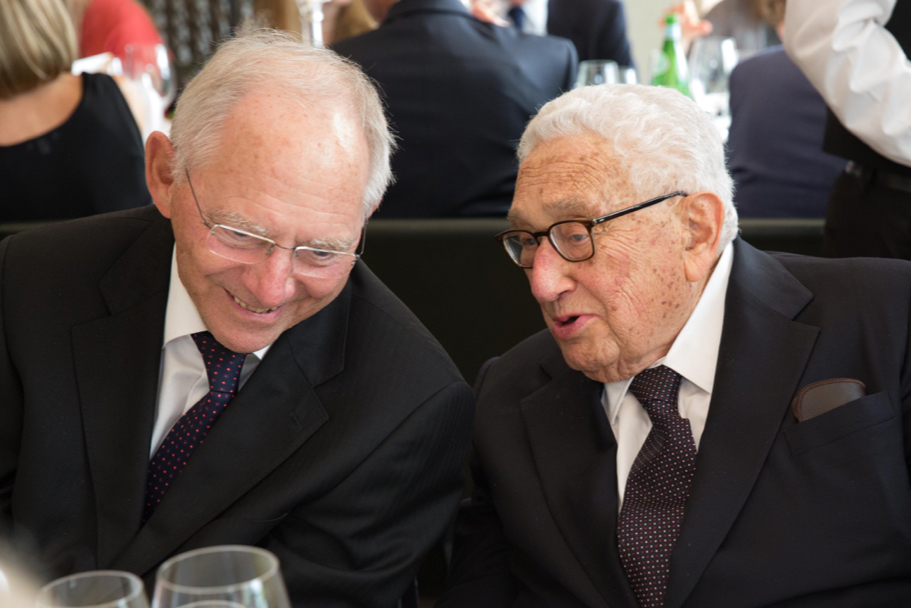 Wolfgang Schäuble And Henry Kissinger Speaking At A Dinner In Honor Of Minister Schäuble. Photo: Annette Hornischer