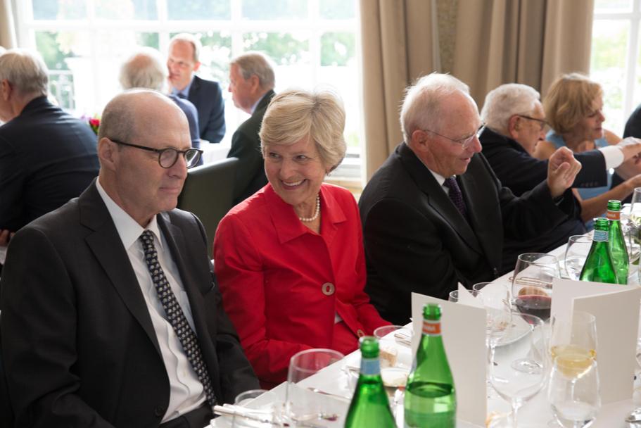 Academy President Michael P. Steinberg, Friede Springer, And Wolfgang Schäuble. Photo: Annette Hornischer