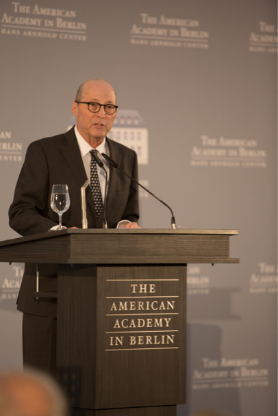 American Academy president Michael P. Steinberg delivers words of welcome at the 2017 Henry A. Kissinger Prize. Photo: Annette Hornischer