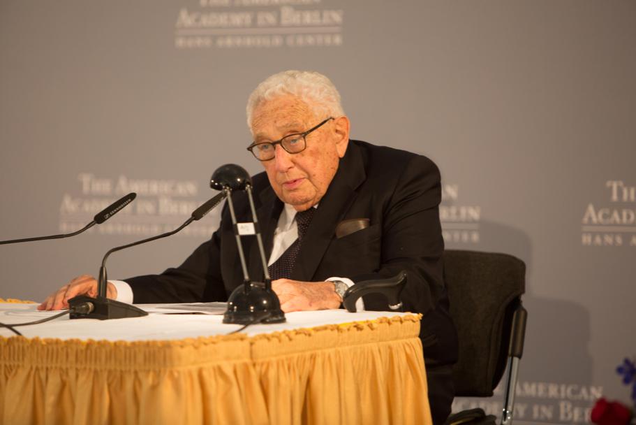 Henry Kissinger Delivers Opening Remarks At The 2017 Henry A. Kissinger Prize. Photo: Annette Hornischer