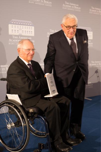 Wolfang Schäuble and Henry Kissinger. Photo: Annette Hornischer.