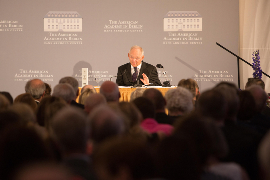 Minister Wolfgang Schäuble Delivers Remarks At The 2017 Henry A. Kissinger Prize. Photo: Annette Hornischer
