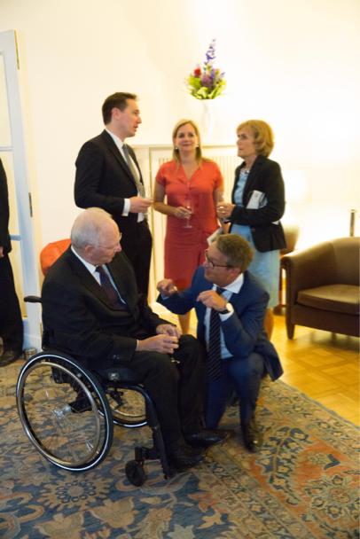 Wolfgang Schäuble, Academy COO Christian Diehl, Juliane Schäuble, Head Of Politics At Der Tagesspiegel, And Ingeborg Schäuble. Photo: Annette Hornischer