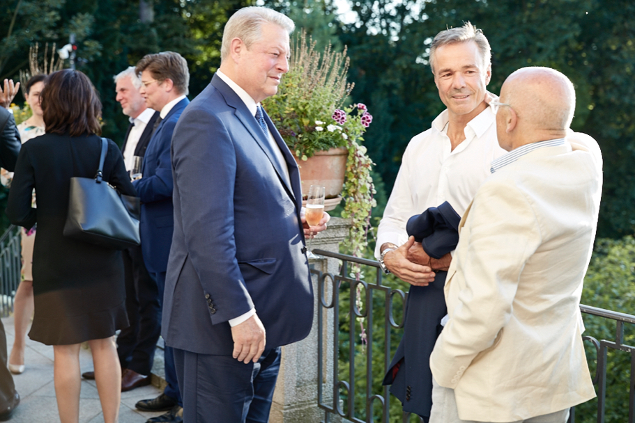 Al Gore, Hannes Jaenicke, and Volker Schlöndorff. Photo: Ralph K. Penno