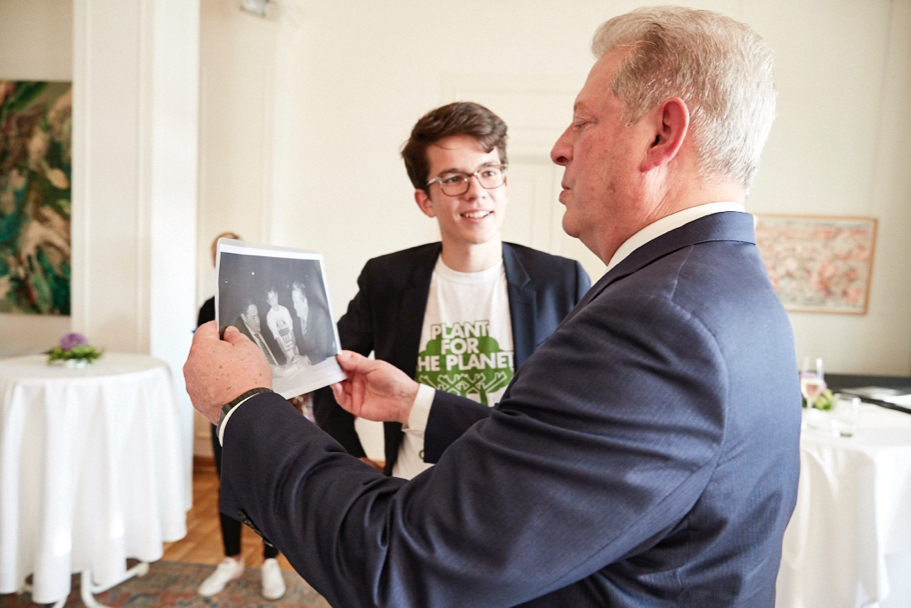 Felix Finkbeiner and Al Gore. Photo: Ralph K. Penno