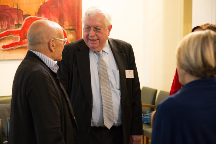 Trustees Volker Schlöndorff And John Kornblum. Photo: Annette Hornischer