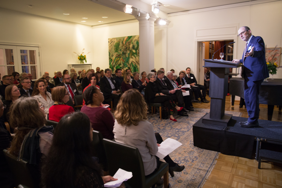 American Academy president Michael P. Steinberg delivers opening remarks. Photo: Annette Hornischer