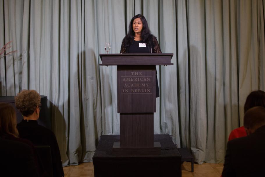 Writer V.V. Ganeshananthan, The Fall 2017 Mary Ellen Von Der Heyden Fellow In Fiction. Photo: Annette Hornischer