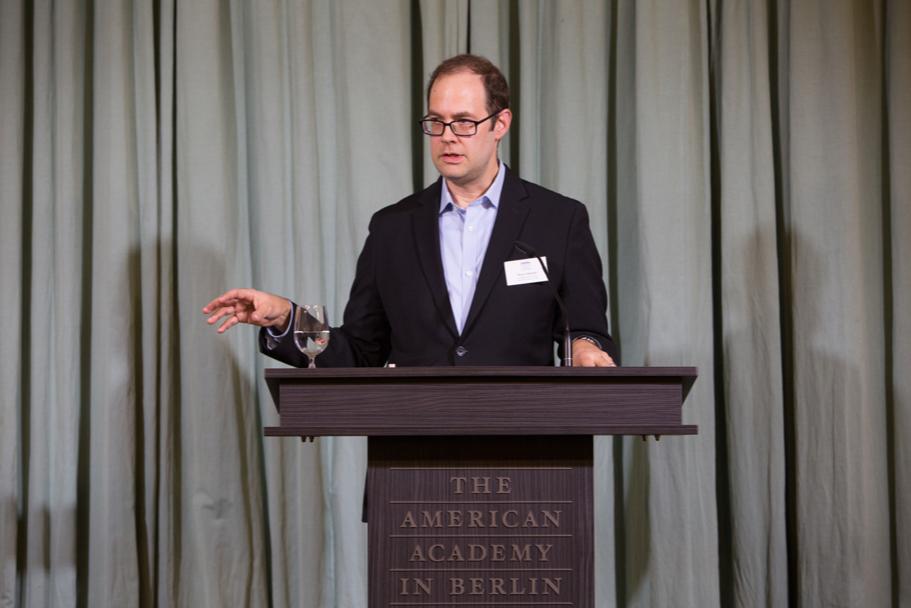 Cultural historian Peter Schmelz, a fall 2017 Anna-Maria Kellen Fellow. Photo: Annette Hornischer