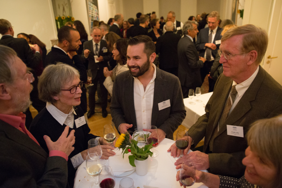 Guests at the reception of the fall 2017 Fellows Presentation. Photo: Annette Hornischer