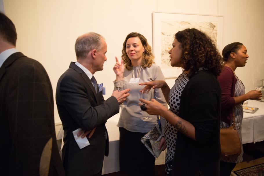 Guests Speaking With Art Historian Aglaya Glebova, The Fall 2017 Axel Springer Fellow. Photo: Annette Hornischer