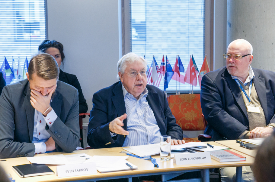 Sven Sakkov, International Centre for Defence and Security; John Kornblum, Richard C. Holbrooke Foum; James D. Melville, US Ambassdor to Estonia. Photo: Andres Teiss