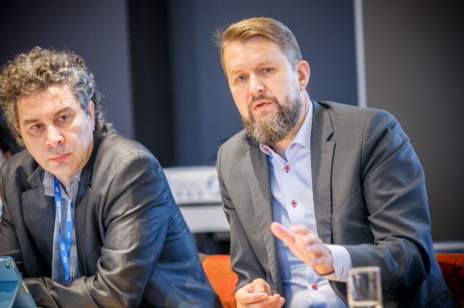 Corneliu Bjola, Oxford University; Sven Sakkov, International Centre for Defence and Security. Photo: Andres Teiss