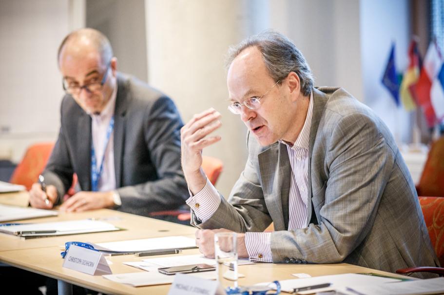 Volker Ziegler, Nokia; Christoph Eichhorn, German Ambassador to Estonia. Photo: Andres Teiss