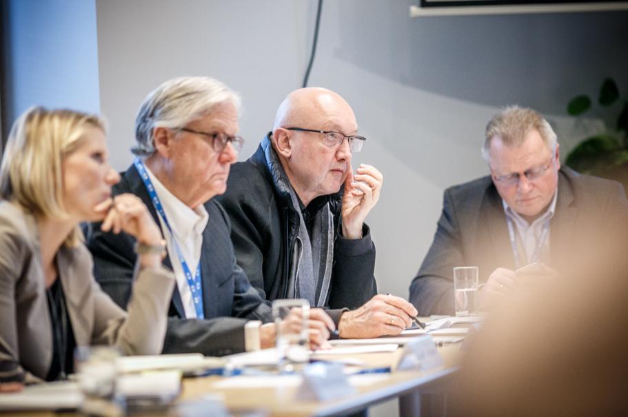 Cathryn Clüver Ashbrook, Harvard Kennedy School; Thomas West, Author; Ulrich Weinberg, Hasso-Plattner-Institute; Eberhard Sandschneider, Freie Universität Berlin. Photo: Andres Teiss