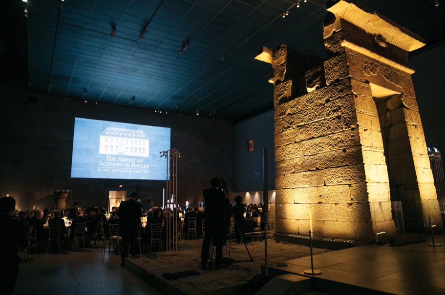 The 2017 American Academy in Berlin gala in the Temple of Dendur room in the Sackler Wing of The Met. Photo: Lauren Kallen