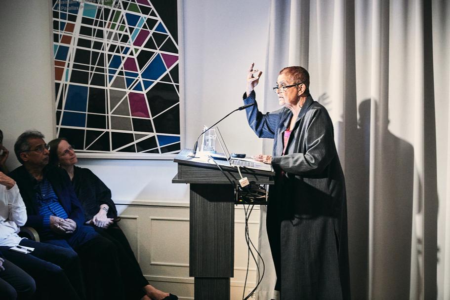 Gayatri Spivak Delivers The 2017 Richard Von Weizsäcker Lecture, On October 17. Photo: Ralph K. Penno