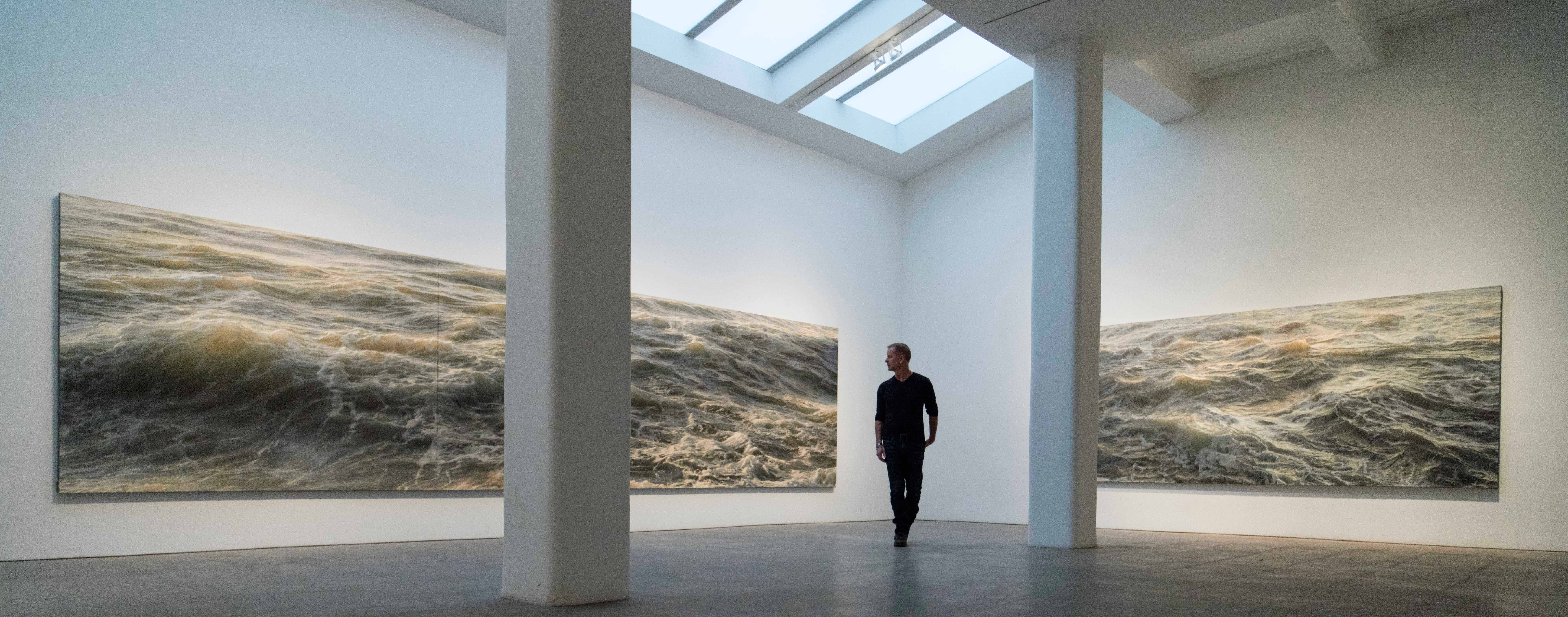 Portrait of the artist Ran Ortner in Robert Miller Gallery (Photo: Boris Riabov)