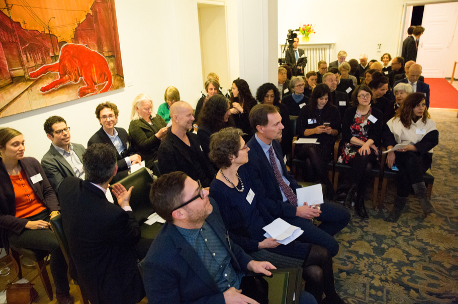 The Spring 2018 Class Of Fellows At The Fellows Presentation On January 18, 2018. Photo: Annette Hornischer.