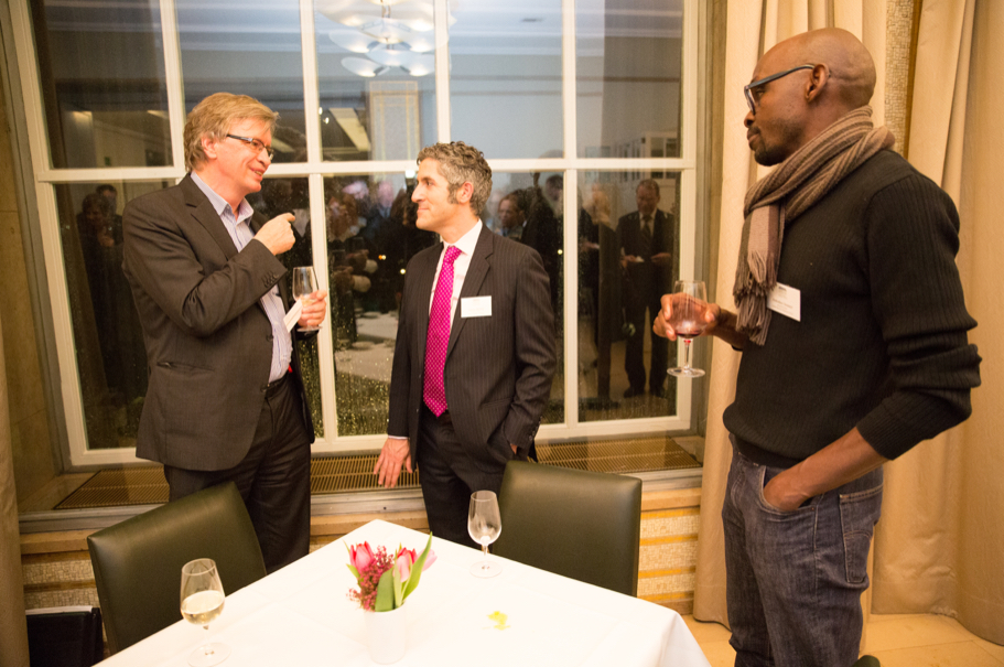 Tagesspiegel Editor Rolf Brockschmidt Speaks With Ussama Makdisi And Abdoulaye Sounaye. Photo: Annette Hornischer