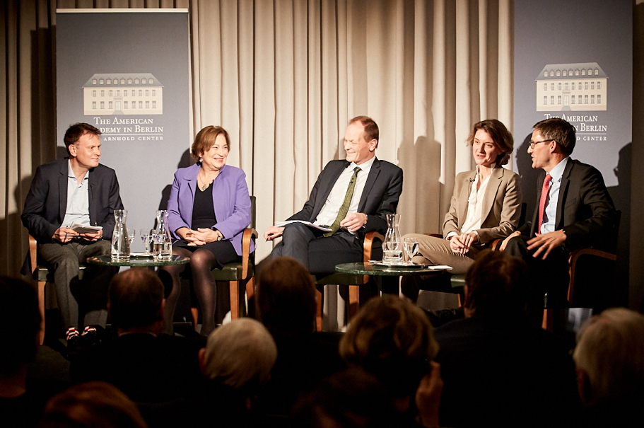 From Left To Right: Jörg Lau, DIE ZEIT; Angela Stent, Georgetown University; Thomas Bagger, Office Of The President Of The Federal Republic Of Germany; Daniela Schwarzer, German Council On Foreign Relations; Derek Chollet, German Marshall Fund Of The United States. Photo: Ralph K. Penno