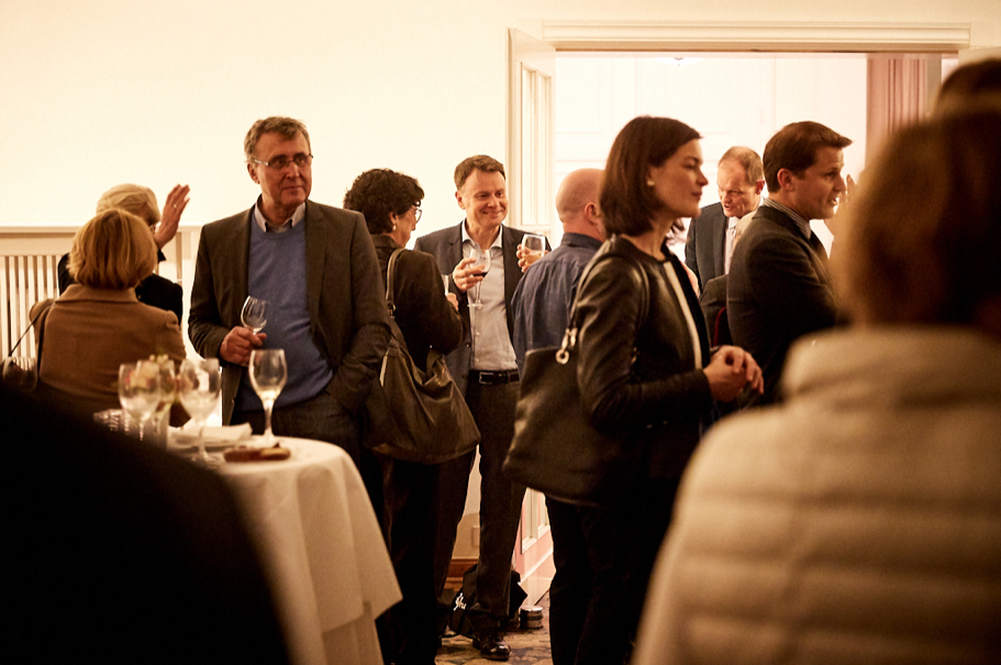 The reception following the Richard C. Holbrooke Discussion at the American Academy in Berlin. Photo: Ralph K. Penno