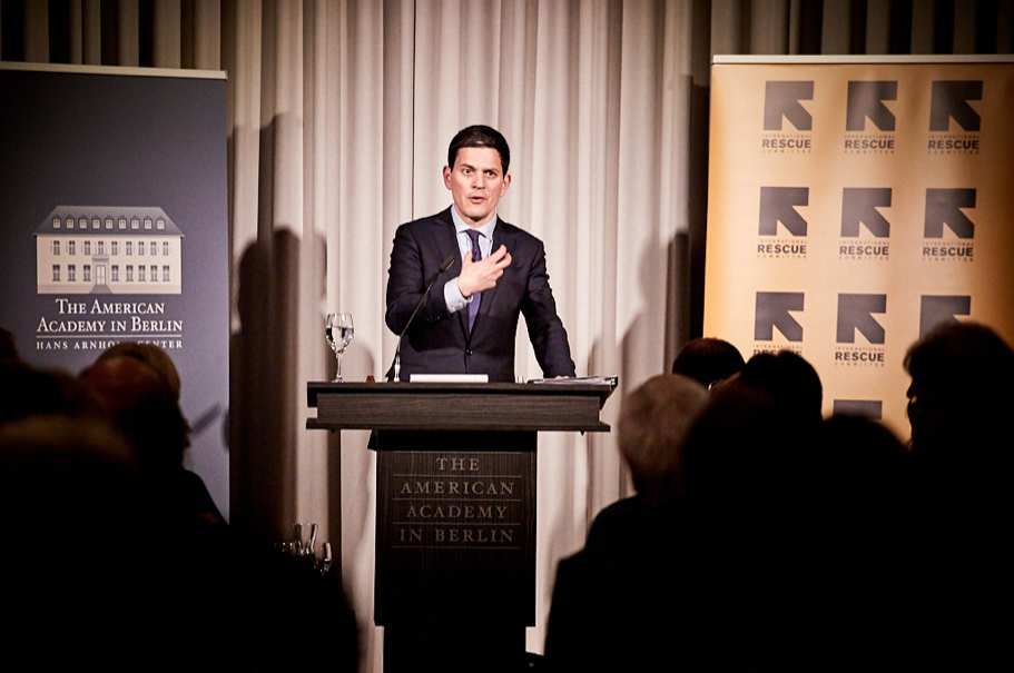 "David Miliband: ""The Traditional System For Dealing With The Refugee Crisis Is Broken."" Photo: Ralph K. Penno"