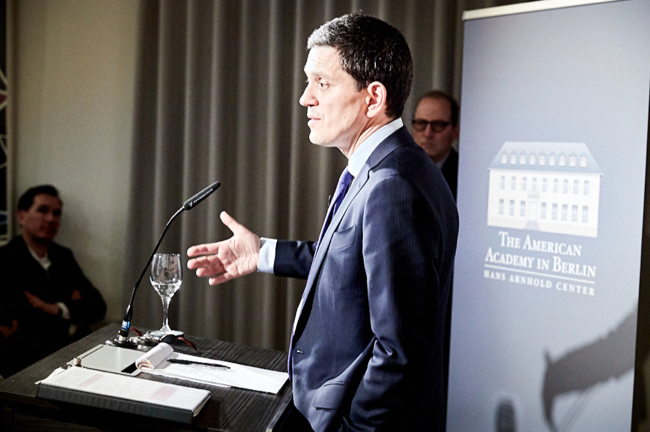 David Miliband takes questions from the audience. Photo: Ralph K. Penno