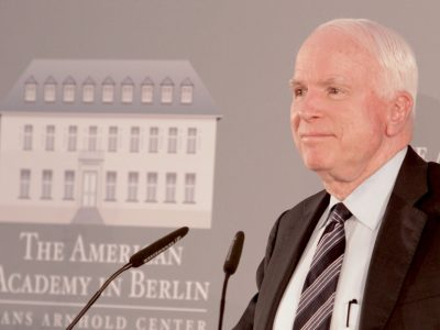 John McCain Receives The 2018 Henry A. Kissinger Prize