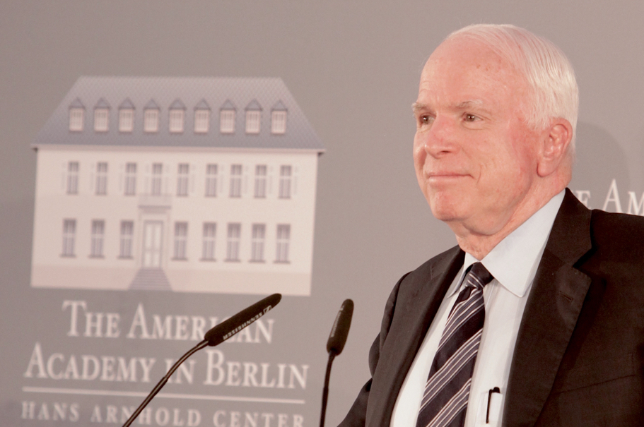 Senator John McCain At The American Academy In Berlin. Photo: Annette Hornischer
