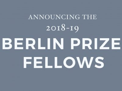 The 2018-19 Berlin Prize