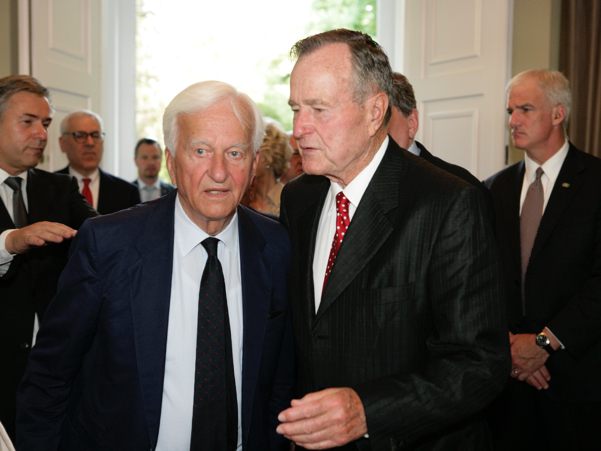Richard von Weizsäcker and George H.W. Bush at the American Academy in 2008, at the Henry A. Kissinger Prize honoring Bush. Photo: Annette Hornischer