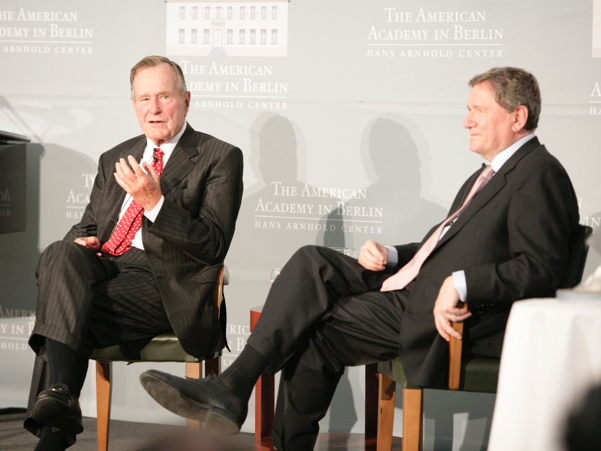 George H.W. Bush and Richard C. Holbrooke. Photo: Annette Hornischer